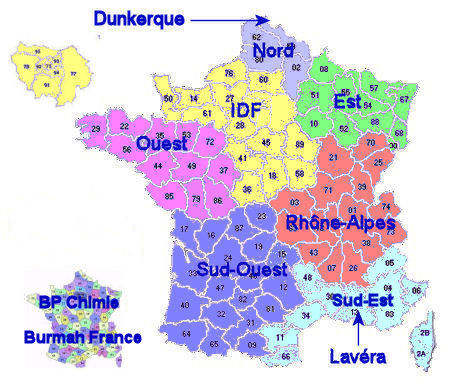 Carte france bp 6